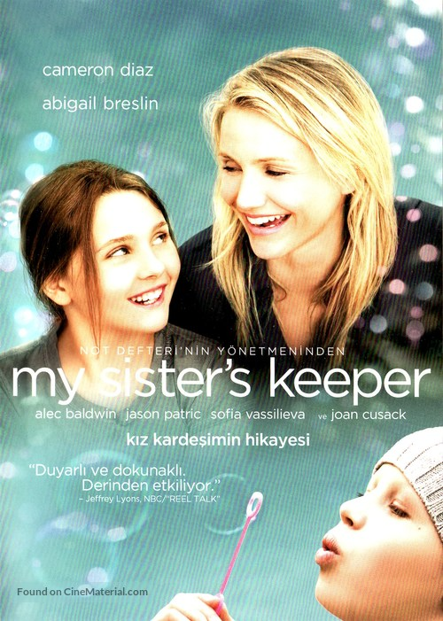 My Sister's Keeper - Turkish DVD movie cover