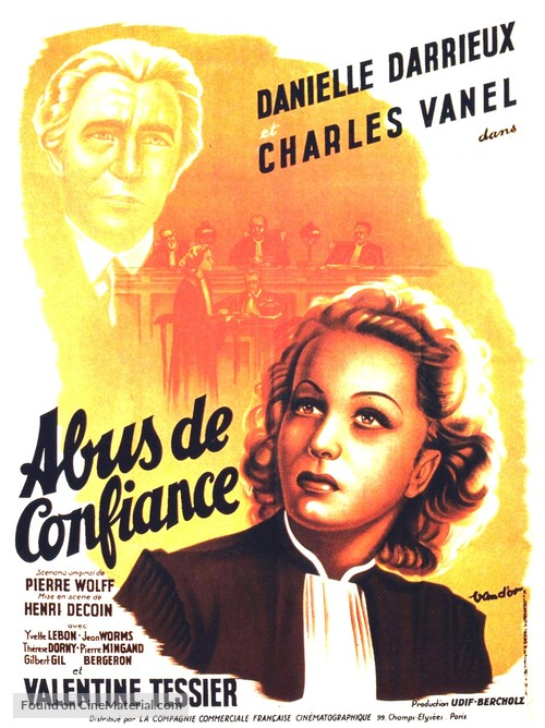 Abus de confiance - French Movie Poster