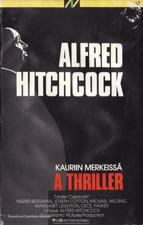 Under Capricorn - Finnish VHS movie cover