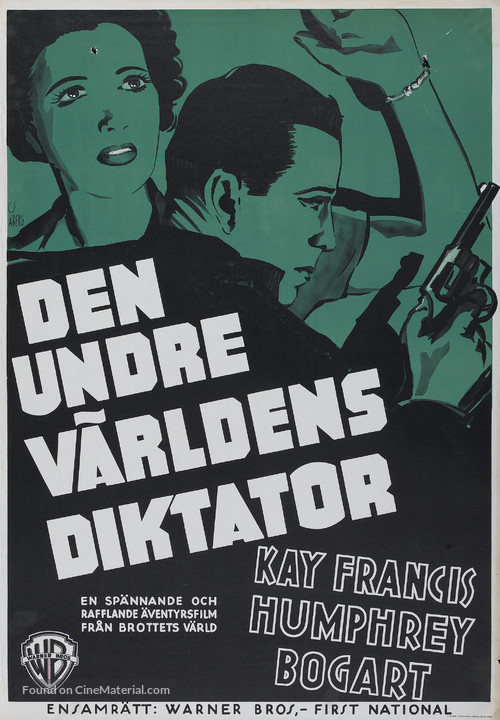 King of the Underworld - Swedish Movie Poster