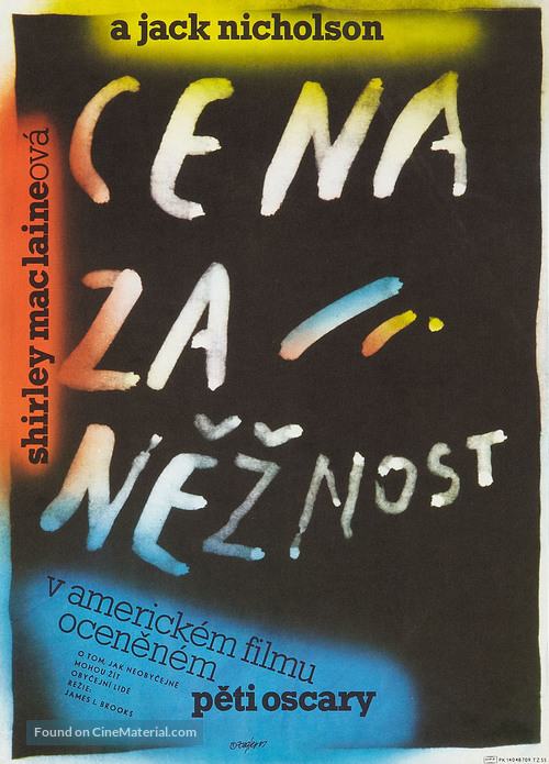 Terms of Endearment - Czech Movie Poster