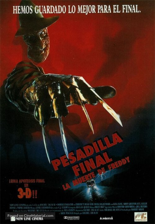 Freddy's Dead: The Final Nightmare - Spanish Movie Poster