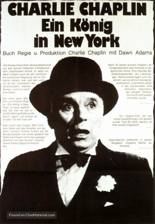A King in New York - German Movie Poster