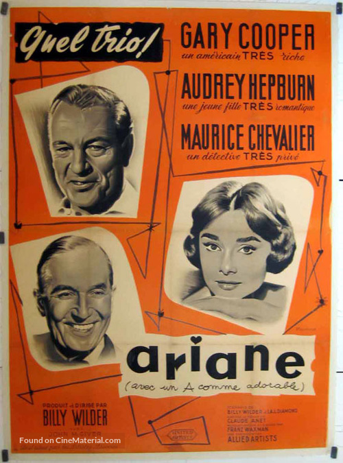 Love in the Afternoon - French Movie Poster