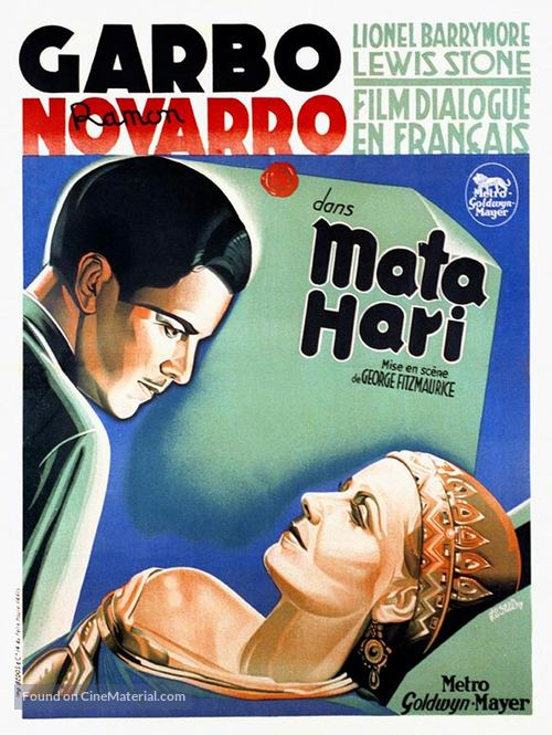 Mata Hari - French Movie Poster