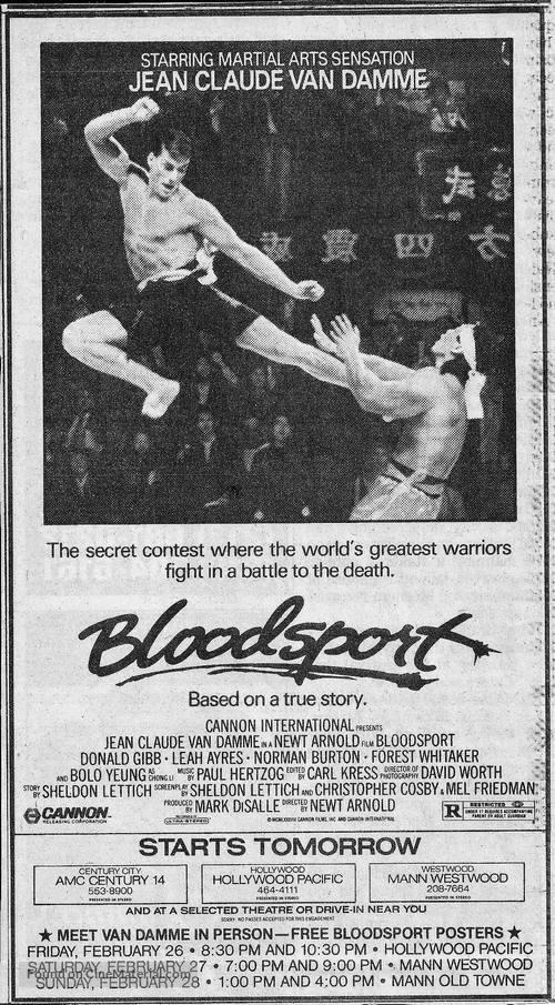 Bloodsport - poster