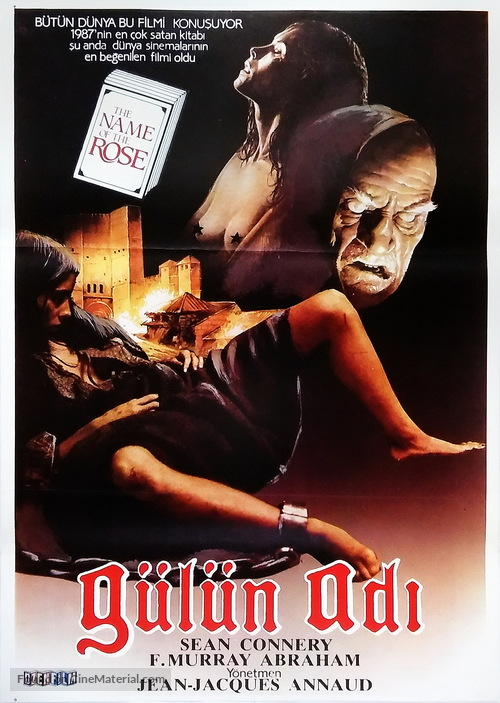 The Name of the Rose - Turkish Movie Poster