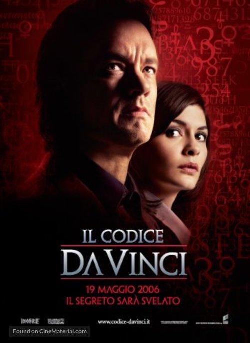 The Da Vinci Code - Italian Movie Poster