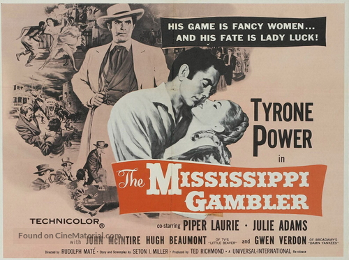 The Mississippi Gambler - Movie Poster