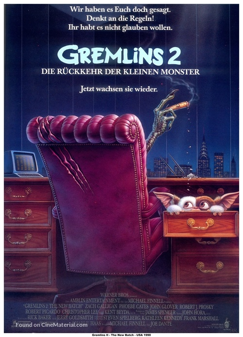 Gremlins 2: The New Batch - German Movie Poster