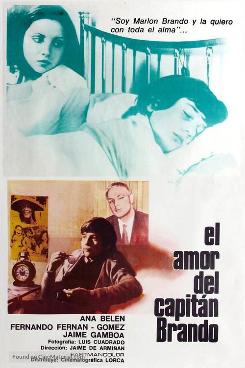 Amor del capitán Brando, El - Mexican Movie Poster