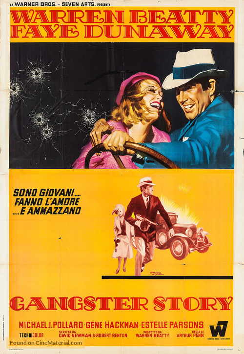 Bonnie and Clyde - Italian Movie Poster