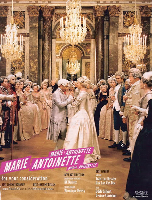 Marie Antoinette (2006) for your consideration movie poster