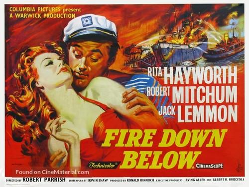 Fire Down Below - British Theatrical movie poster