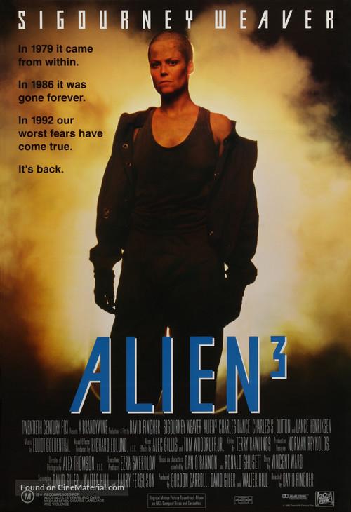 Alien 3 - Australian Movie Poster