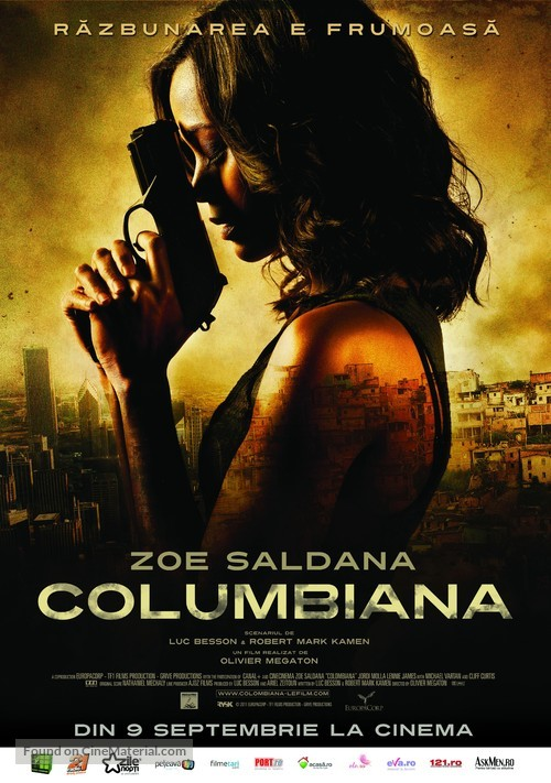 Colombiana - Romanian Movie Poster