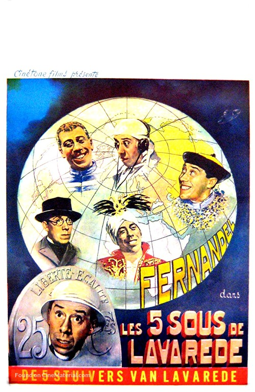 Cinq sous de Lavaréde, Les - Belgian Movie Poster