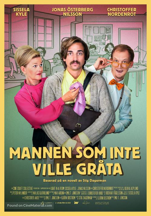 Mannen som inte ville gråta - Swedish Movie Poster