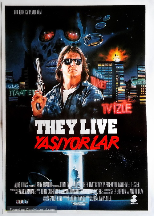 They Live 1988 Poster They Live Turkish movi...