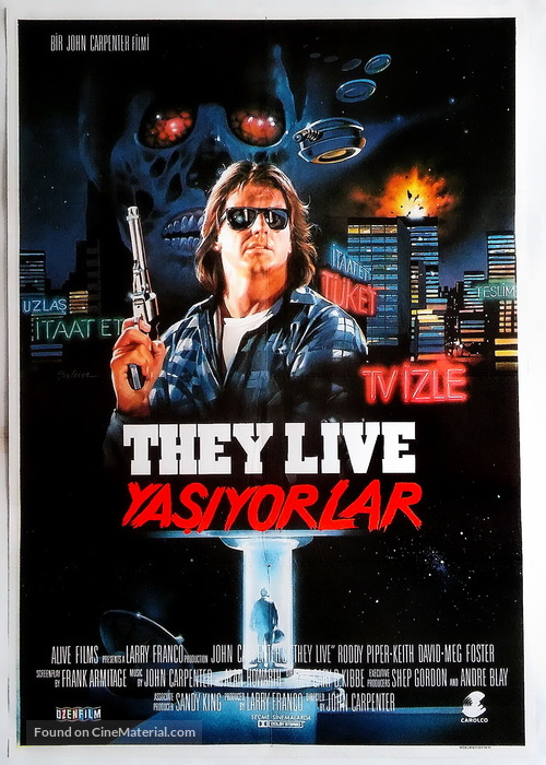 They Live - Turkish Movie Poster
