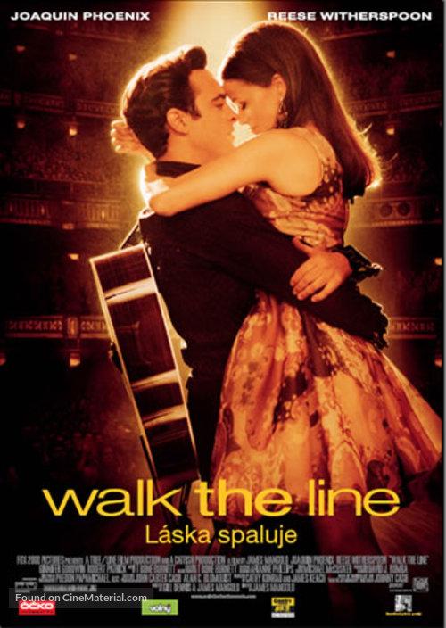 Walk the Line - Czech Movie Poster
