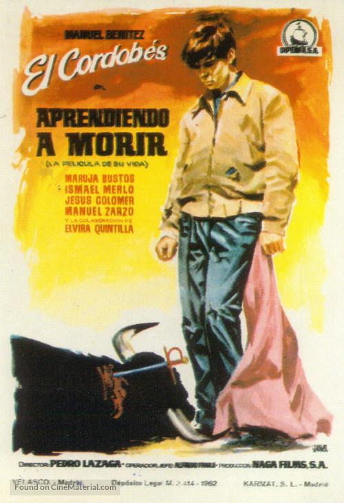 Aprendiendo a morir - Spanish Movie Poster