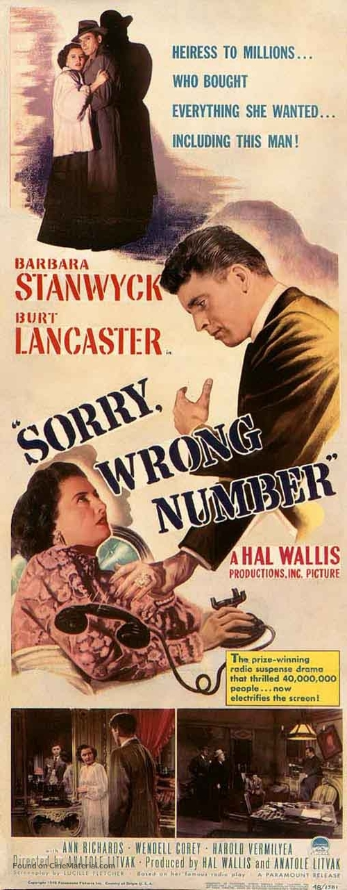 Sorry, Wrong Number - Movie Poster
