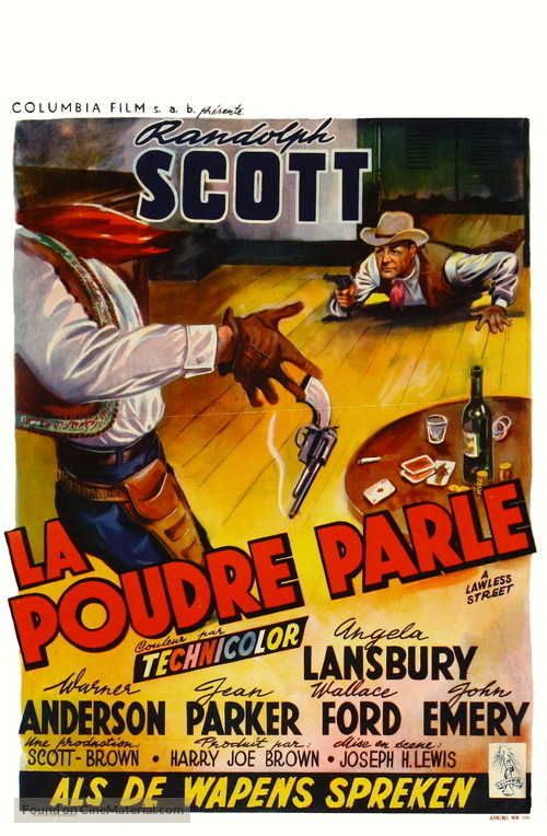 A Lawless Street - Belgian Movie Poster