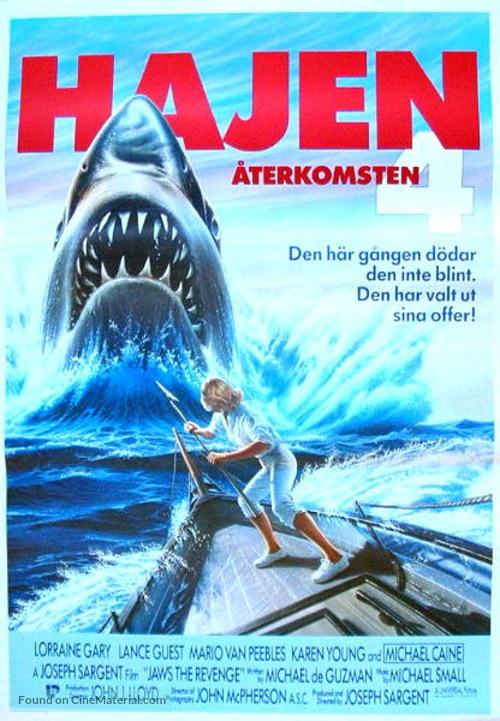 Jaws: The Revenge - Swedish Movie Poster