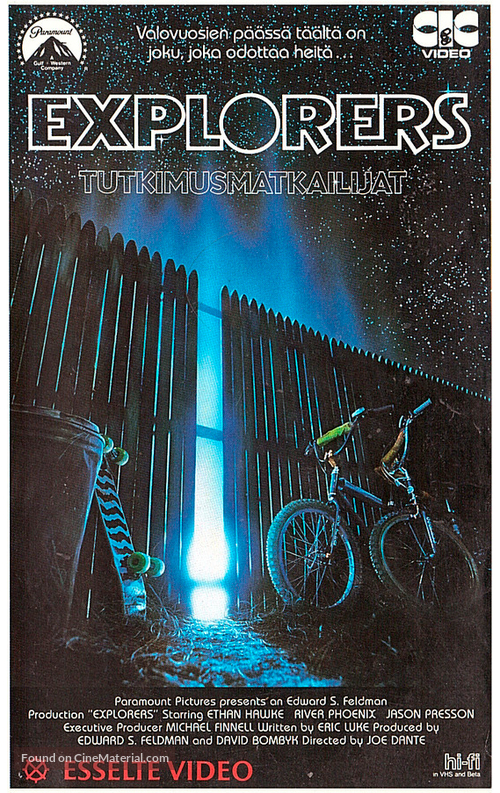 Explorers - Finnish VHS movie cover
