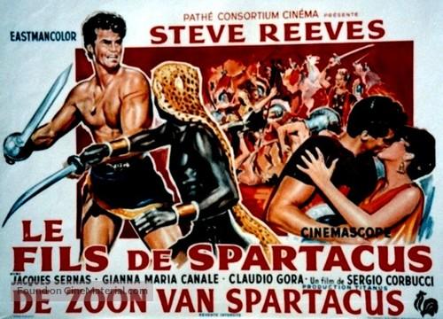 Il figlio di Spartacus - Belgian Movie Poster