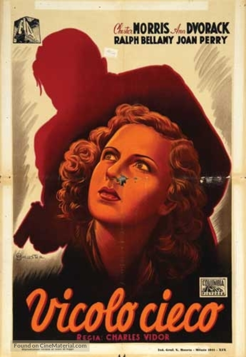 Blind Alley - Italian Movie Poster