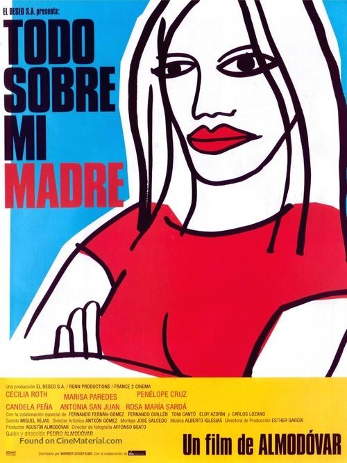 Todo sobre mi madre - Spanish Movie Poster