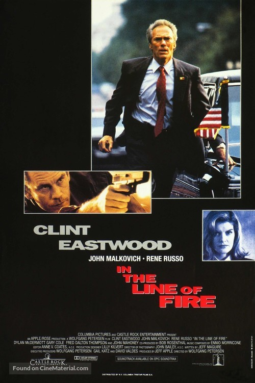 In The Line Of Fire - Belgian Movie Poster