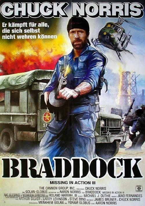 Braddock: Missing In Action III   German Movie Poster  Missing In Action Poster