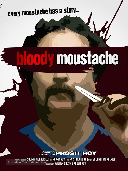 Bloody Moustache - Indian Movie Poster