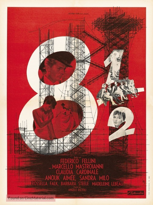 8½ - French Movie Poster