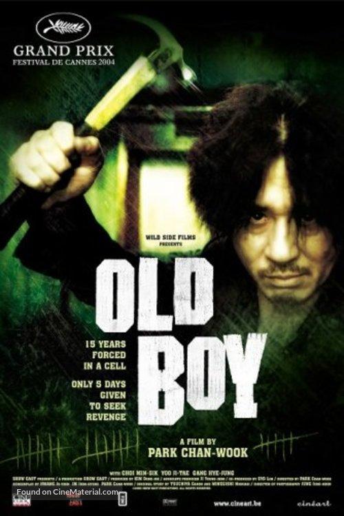 Oldboy - Belgian Movie Poster