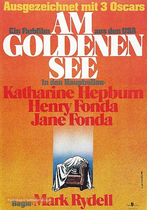On Golden Pond - German Movie Poster