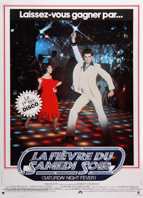 Saturday Night Fever - French Movie Poster