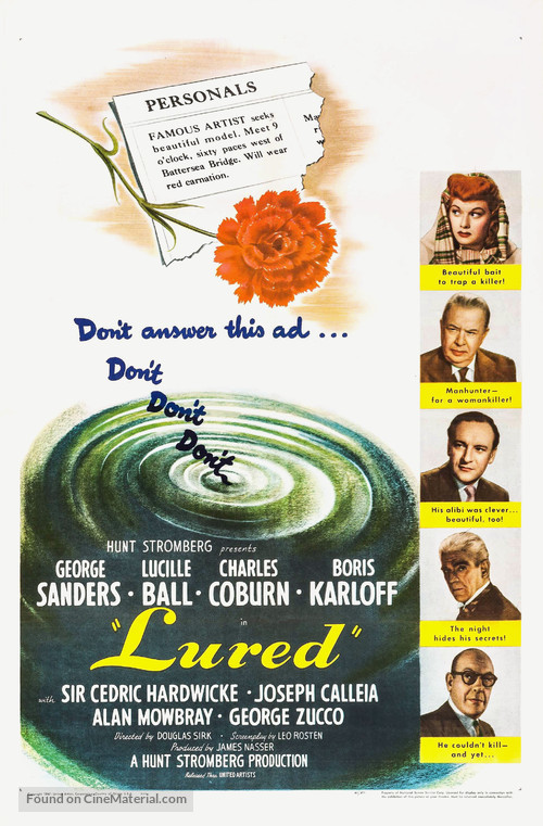 Lured - Movie Poster