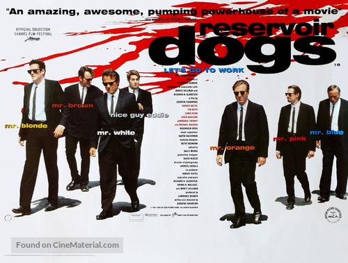 Reservoir Dogs - British Movie Poster