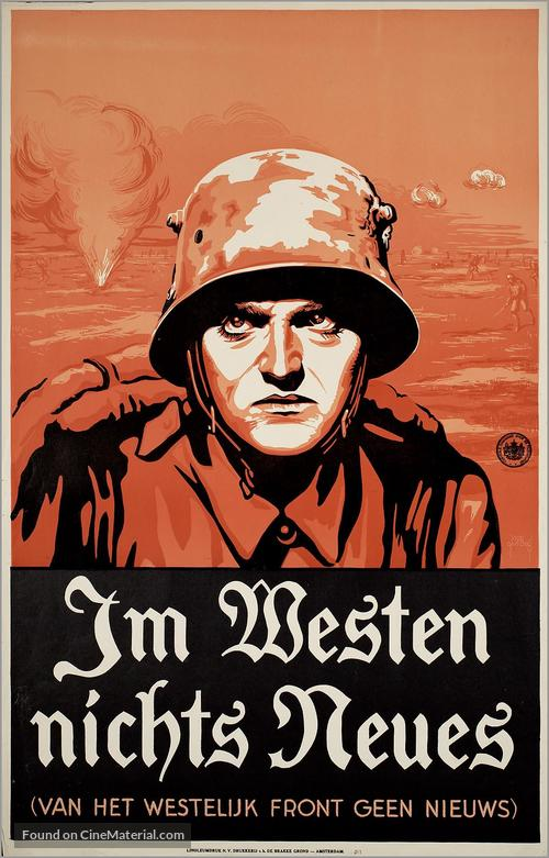 All Quiet on the Western Front - Dutch Movie Poster