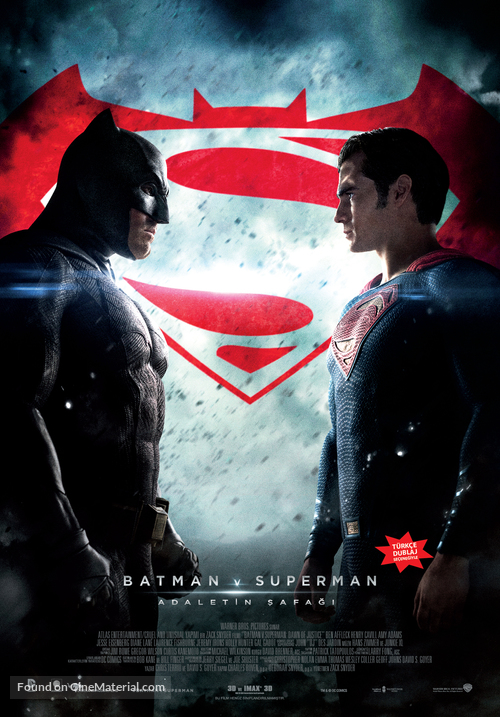 Batman v Superman: Dawn of Justice - Turkish Movie Poster