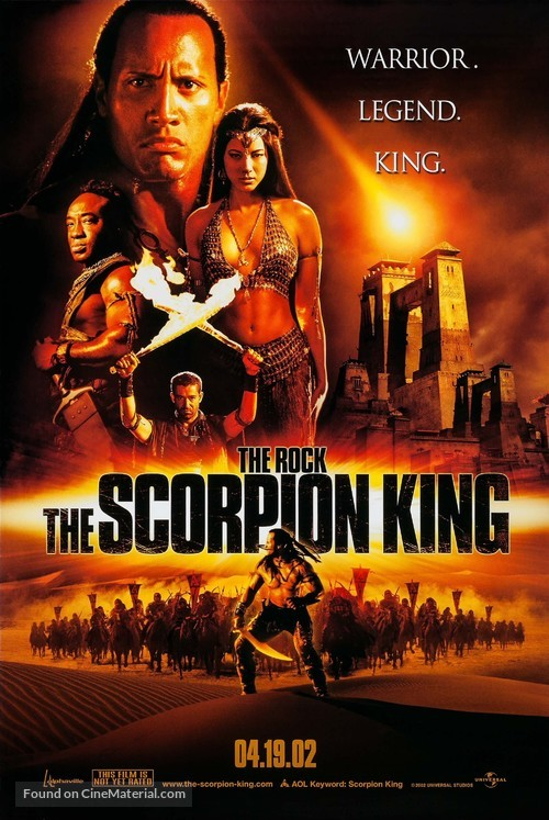 The Scorpion King - Advance movie poster