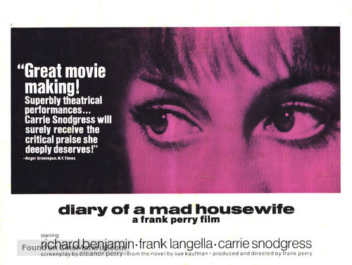 Diary of a Mad Housewife - Movie Poster