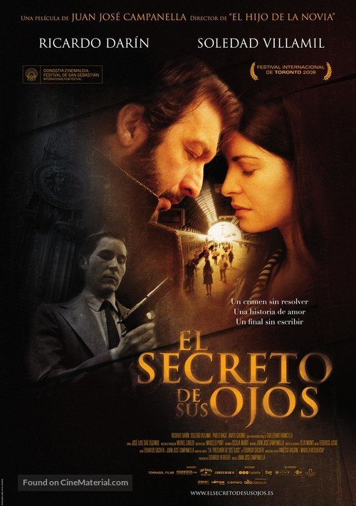 El secreto de sus ojos - Spanish Movie Poster