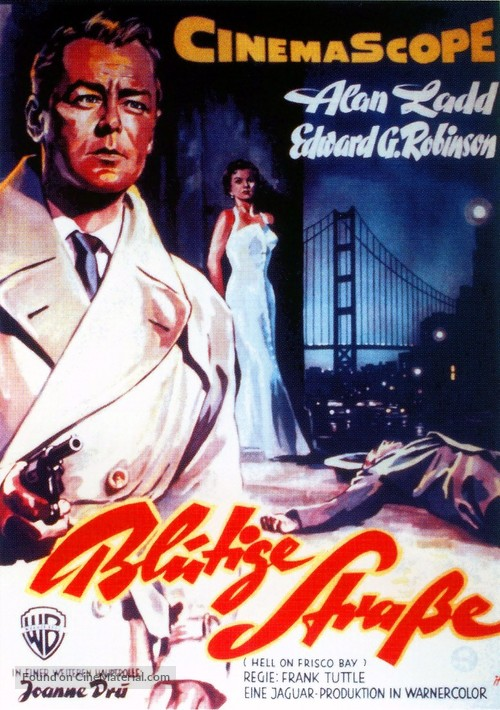 Hell on Frisco Bay - German Movie Poster