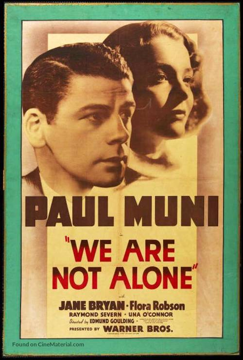 We Are Not Alone - Movie Poster