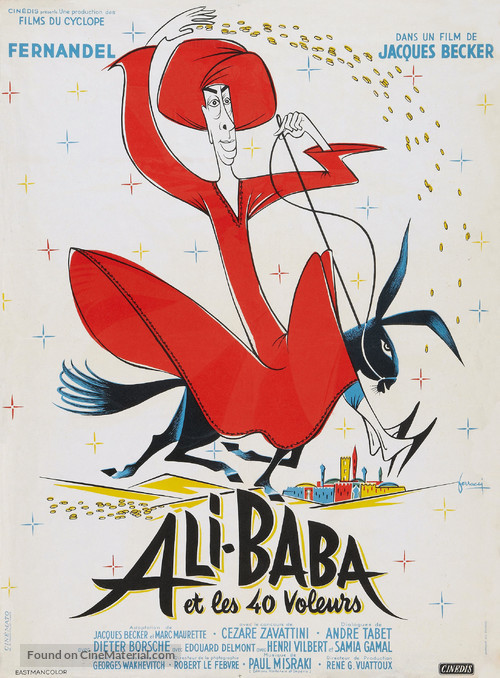 Ali Baba et les quarante voleurs - French Movie Poster
